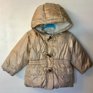 Baby Gap Fur Lined Puffer Coat - 12 - 18 months